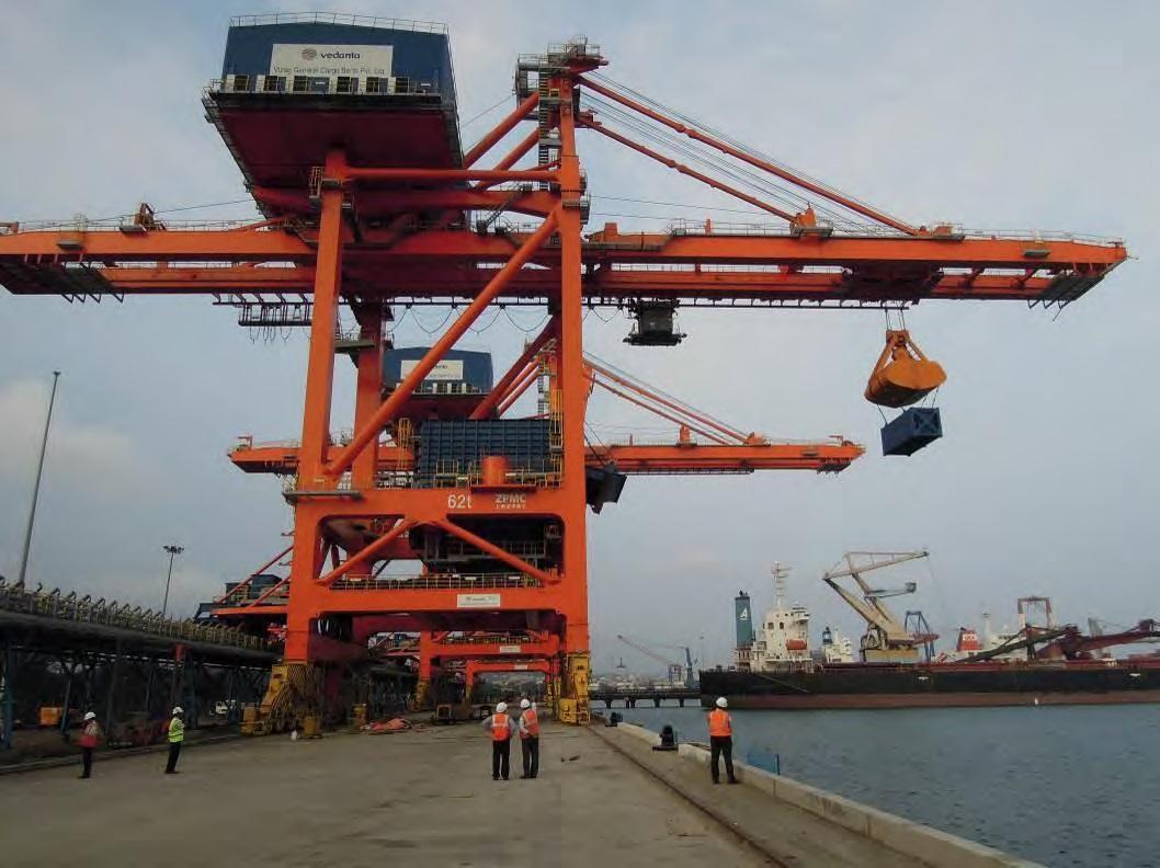 Bulk Gantry cranes coal import terminal
