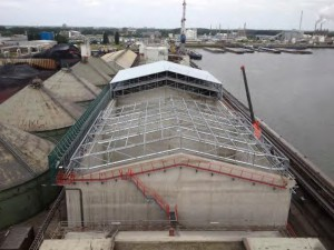 Projects development of dry bulk warehouse for Ebs rotterdam