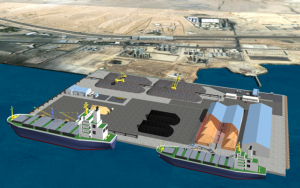 Artist impression of the proposed Adabeya Dry Bulk Terminal