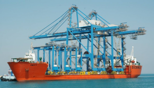 Ship-to-shore container gantry cranes (STS-cranes) for Sokhna Port