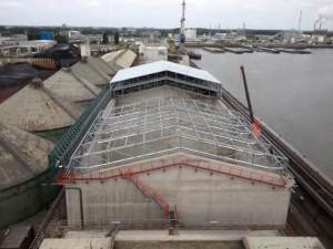 Development of dry bulk and wood pellet warehouse