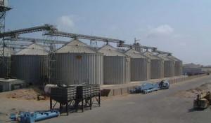 Inspection of grain silo complex